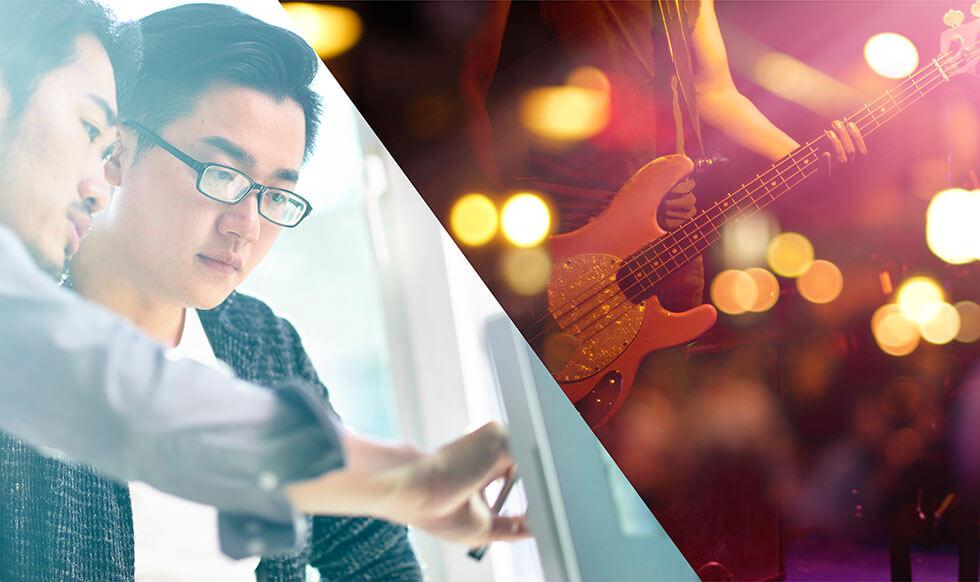 一般企業で働きながら、音楽活動を行う「副業ミュージシャン」という道
